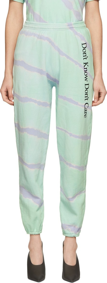 Ashley Williams Green Tie-Dye 'Don't Know' Lounge Pants