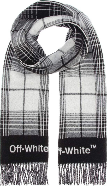Off White Plaid wool-blend scarf