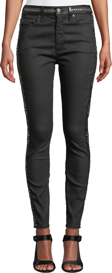 AO.LA by alice + olivia Good High-Rise Studded Ankle Skinny Jeans