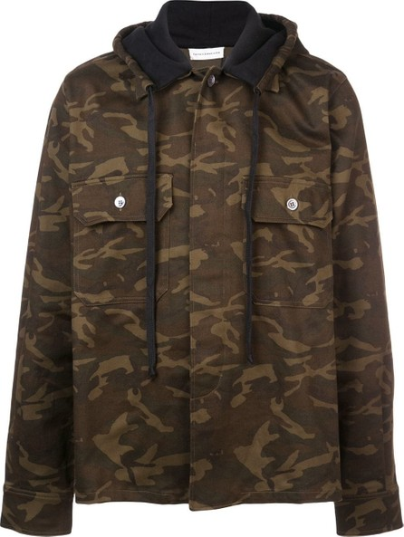 Faith Connexion Camouflage print hooded jacket