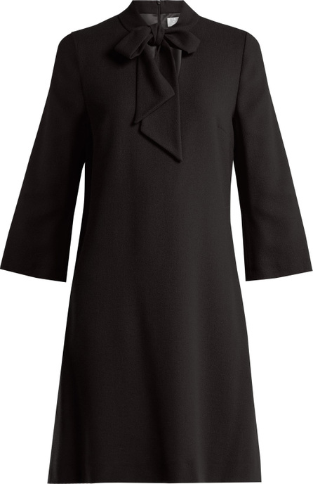 Goat Ginny tie-neck wool-crepe dress