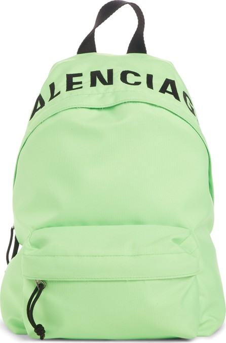 Balenciaga Logo Canvas Backpack