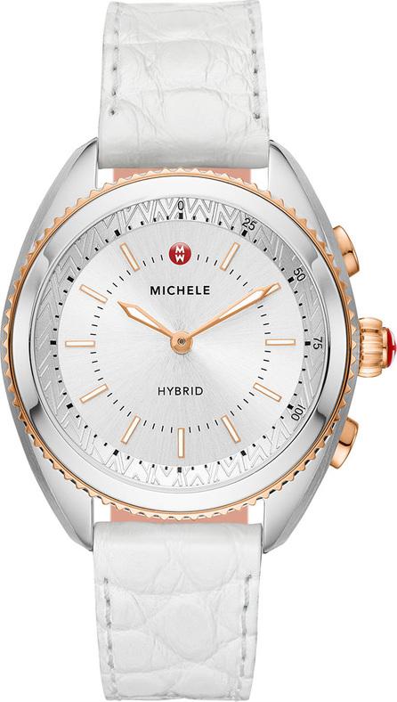 MICHELE 38mm Hybrid Smartwatch, Rose/Steel