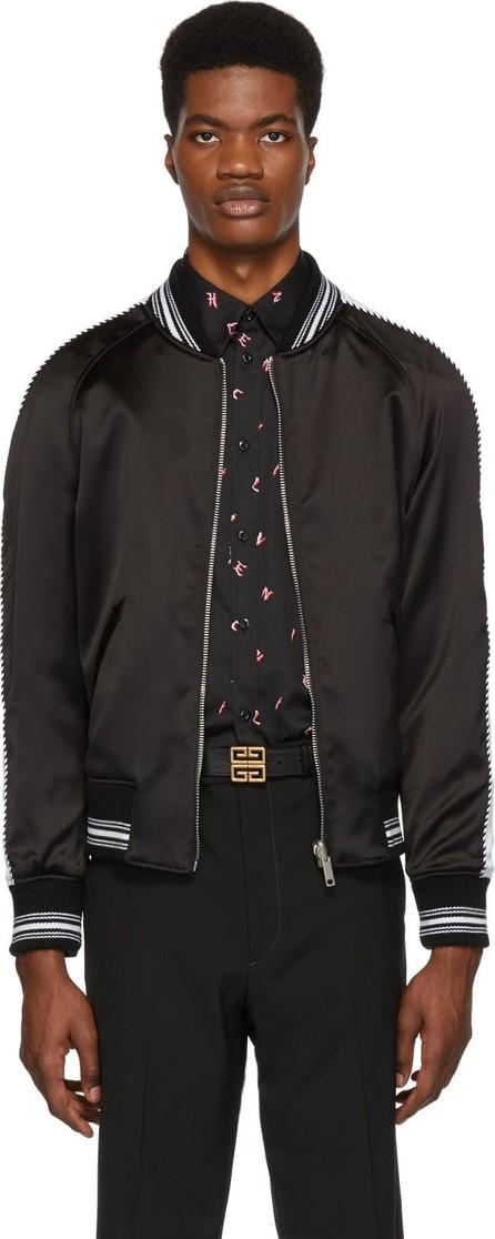 Givenchy Reversible Black Monster Embroidered Varsity Bomber Jacket