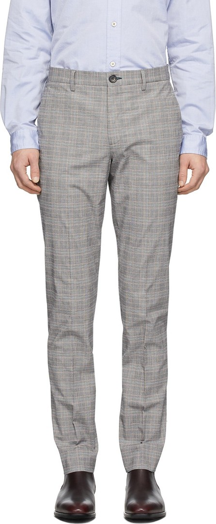 Ps By Paul Smith Grey Plaid Chino Trousers