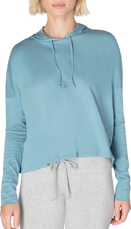 Beyond Yoga Time Out Slashed Long-Sleeve Cropped Pullover
