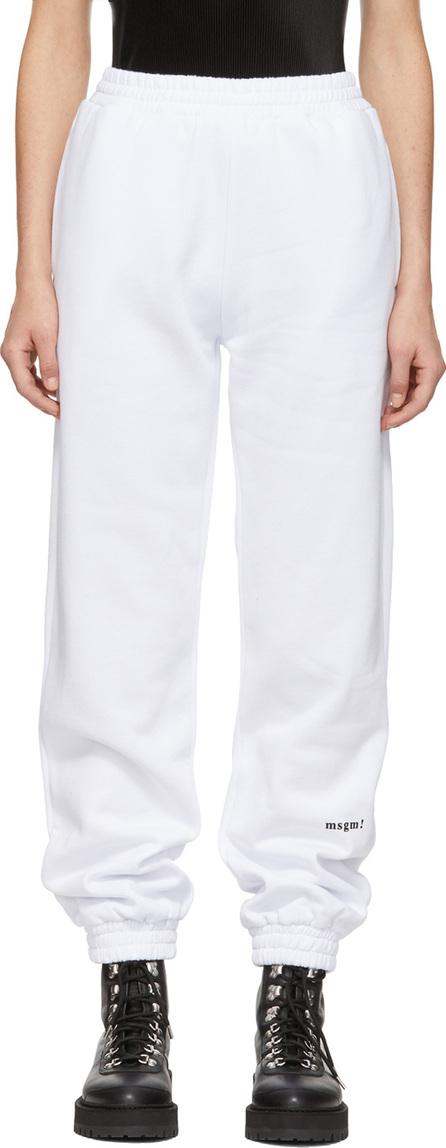 MSGM White 'msgm!' Lounge Pants