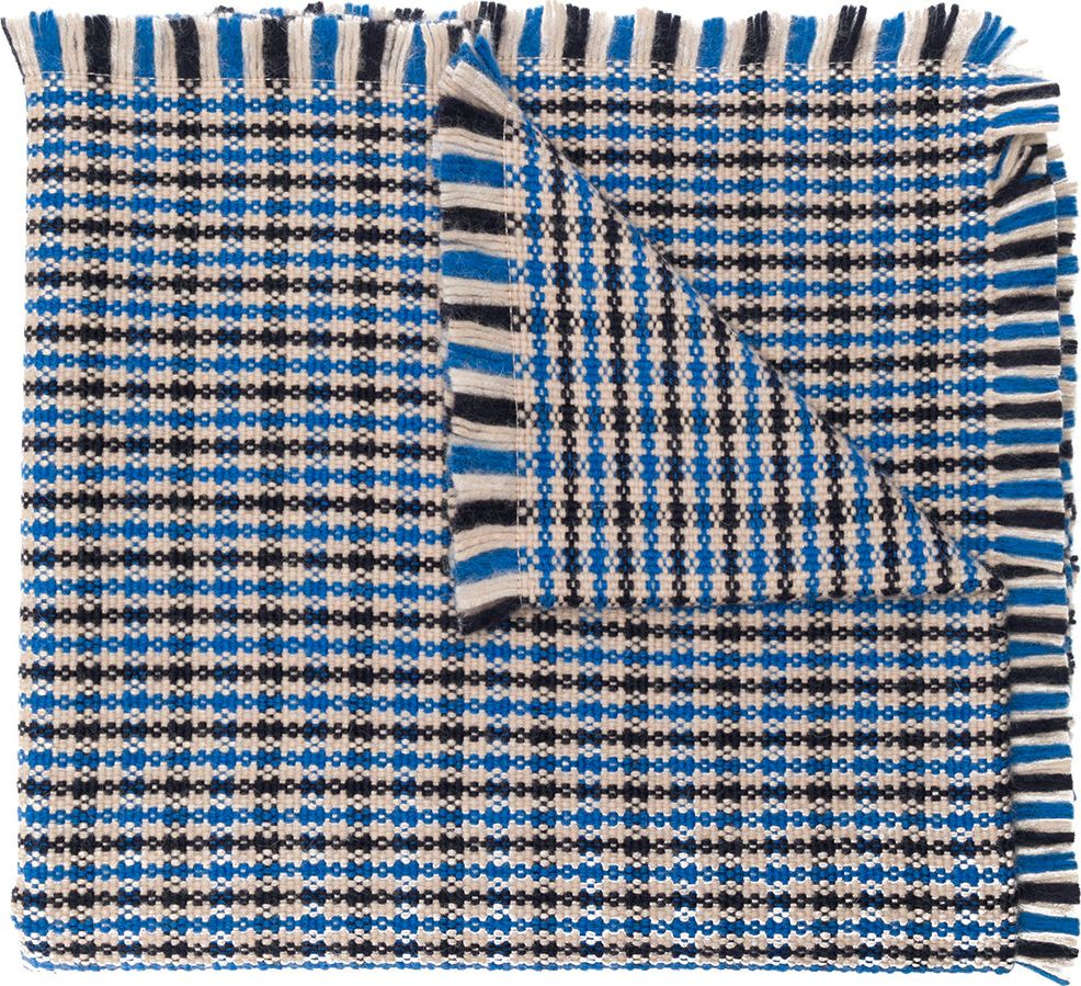 Stella McCartney - patterned fringed scarf