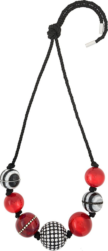 MARC JACOBS Striped rope bead necklace