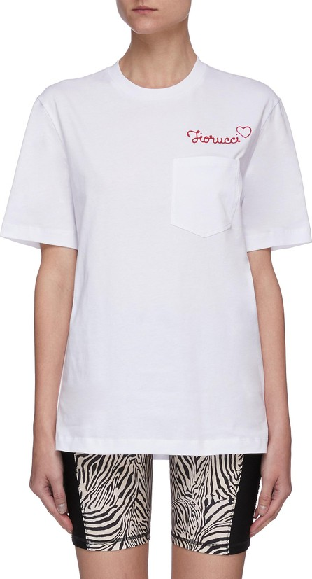 Fiorucci Embroidered logo patch pocket T-shirt