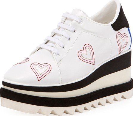 Stella McCartney Sneakelyse Heart Lace-Up Sneakers