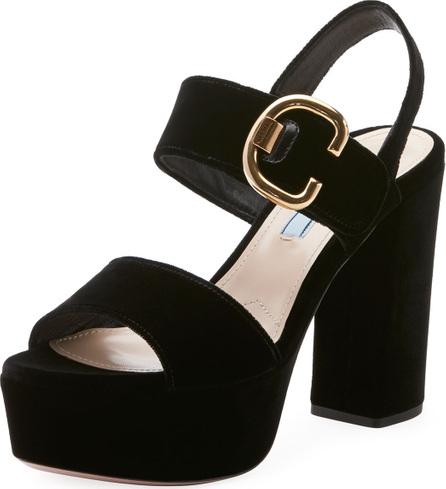 Prada Velvet Platform 105mm Sandal
