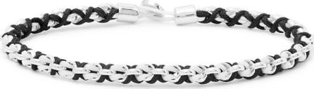 Miansai Nexus Rhodium-Plated and Cord Bracelet