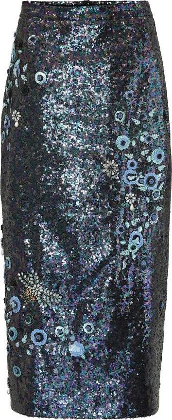 Erdem Sacha sequined pencil skirt
