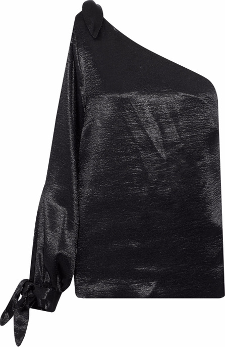 Rebecca Minkoff Nash one-shoulder cutout crushed-satin top