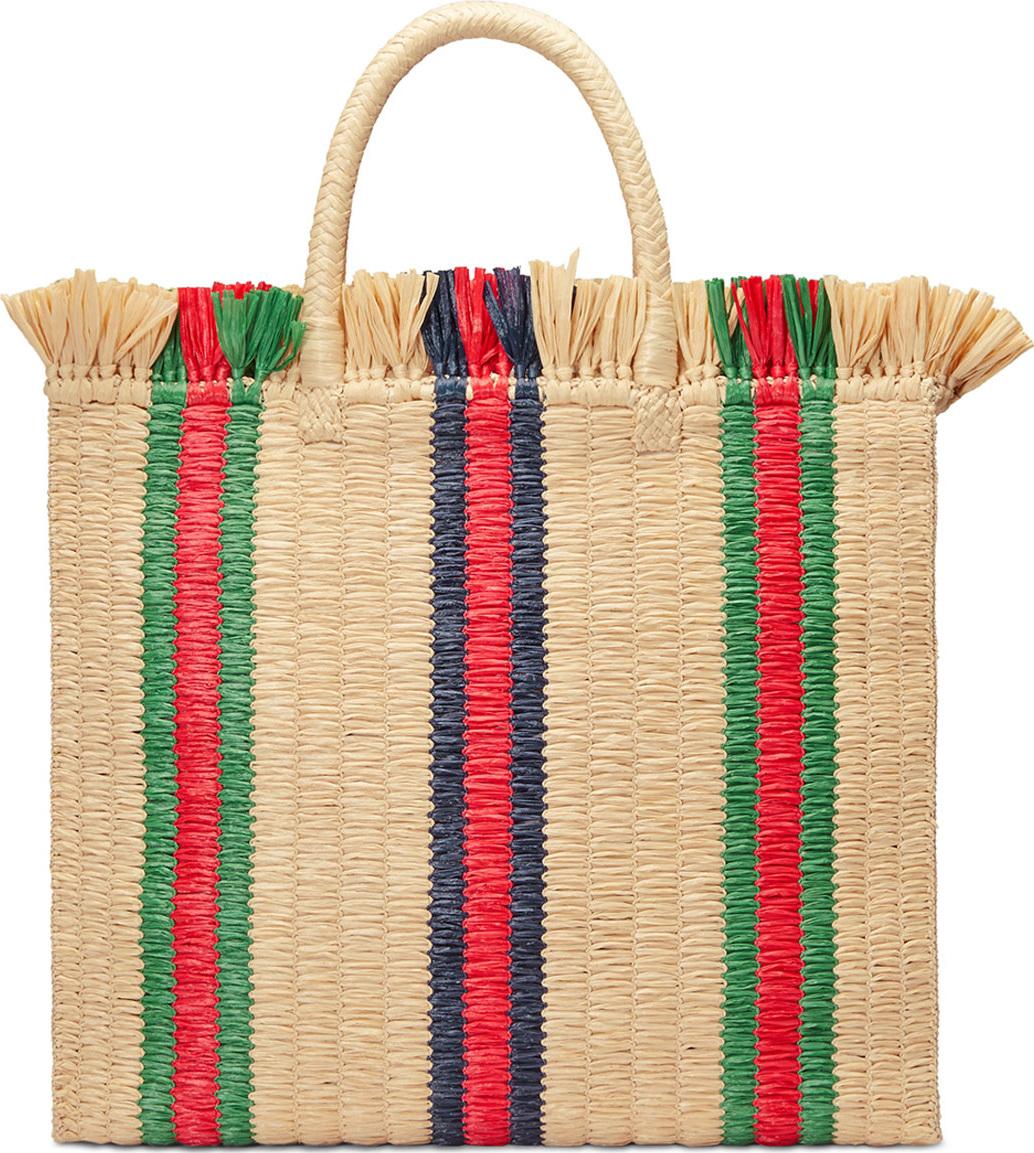 Gucci - Linea Cestino Raffia Tote Bag