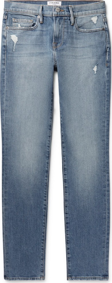 FRAME DENIM L'Homme Slim-Fit Distressed Denim Jeans