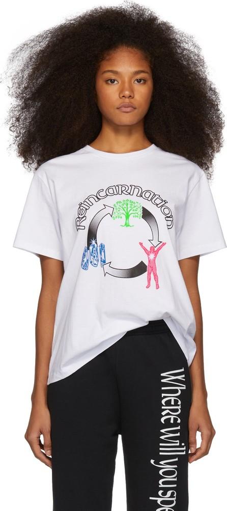 Ashley Williams White 'Reincarnation' T-Shirt