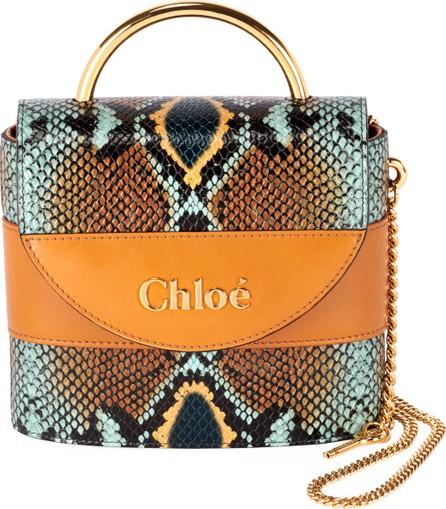 Chloe Aby Lock Python-Print Top Handle Bag