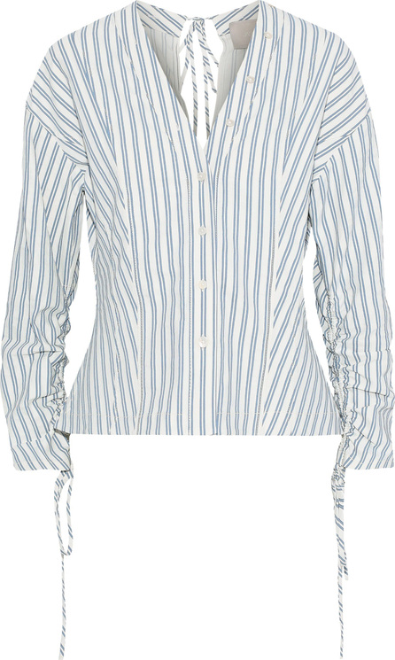 Jason Wu Tie-back striped poplin top