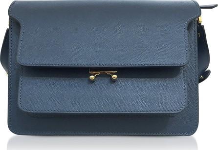 Marni Orion Blue Saffiano Leather Trunk Bag