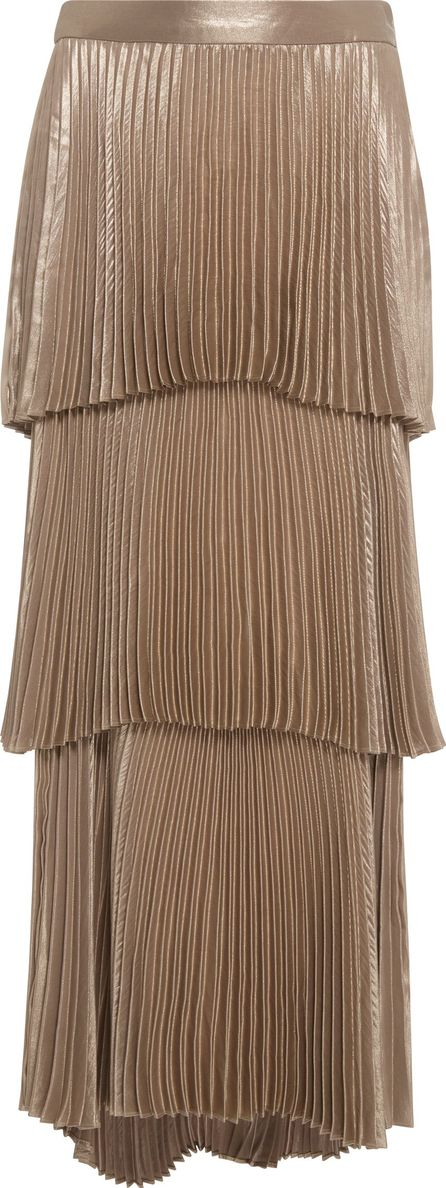 A.L.C. Harley Metallic Tiered Pleated Skirt