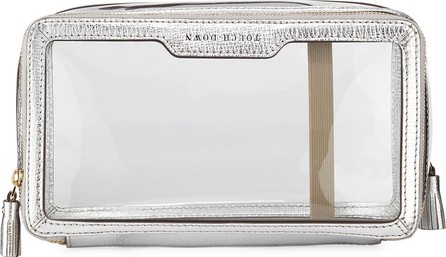 Anya Hindmarch Inflight Patent Leather Clear Travel Pouch, White