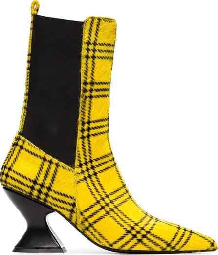 Marques'Almeida Checked print ponyhair 75 boots