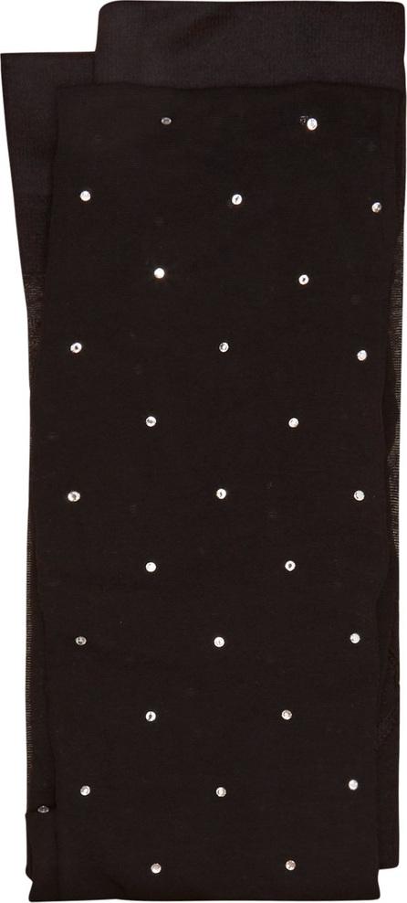 Valentino Crystal-embellished sheer tights
