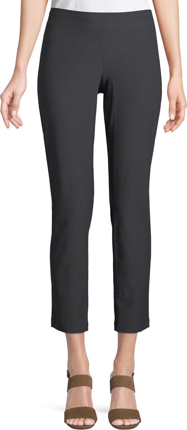 Eileen Fisher - Washable Stretch Crepe Cropped Pants