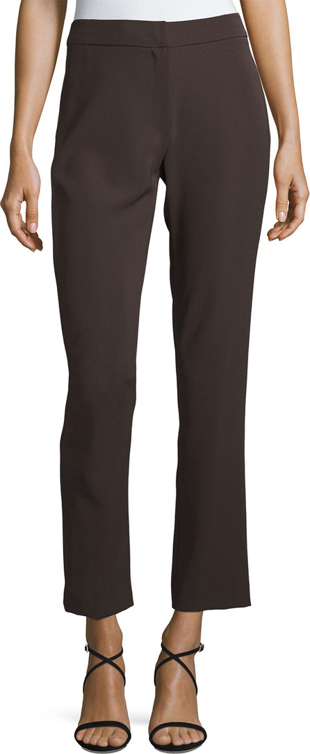 Armani Collezioni Tech Cady Slim-Straight Pants, Brown