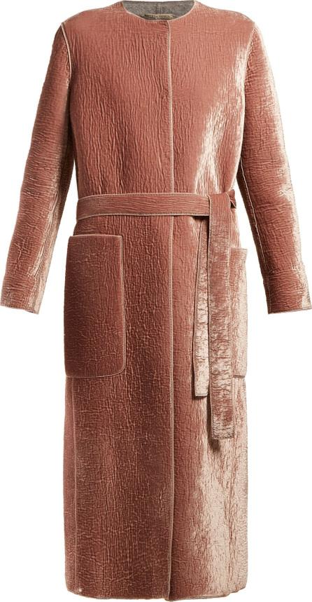 Bottega Veneta Velvet belted coat