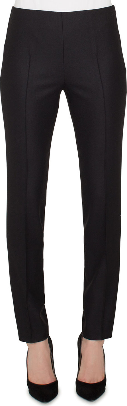 Akris Melissa Skinny-Leg Side-Zip Stretch-Flannel Pants