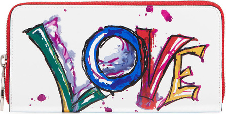 Christian Louboutin Panettone Paris Love Brushstroke Zip Wallet