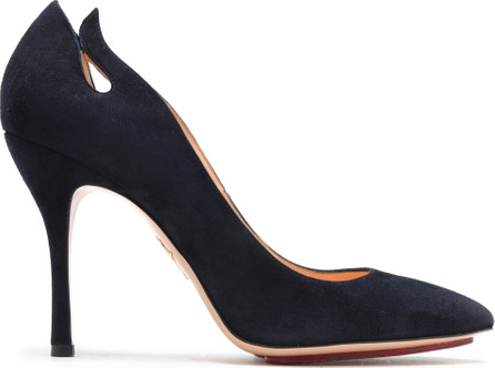 Charlotte Olympia Inferno cutout suede pumps