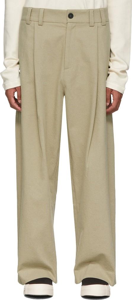 Studio Nicholson Beige Bushel Trousers