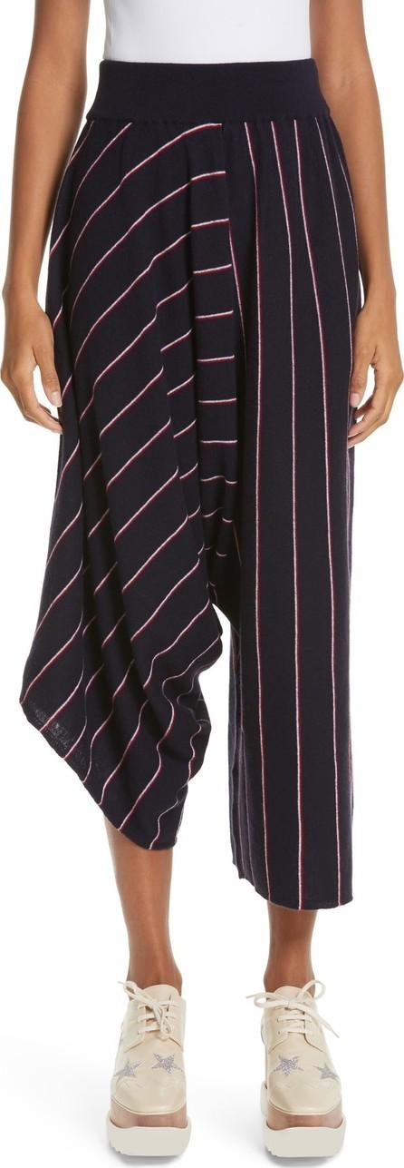 Stella McCartney Stripe Wool Knit Crop Pants