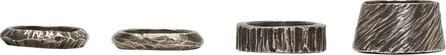 Ann Demeulemeester Silver Serie Four-D Ring Set