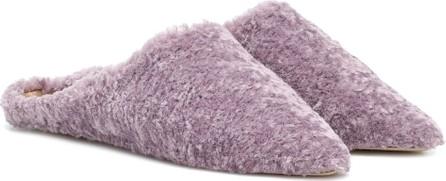 Nanushka Miska faux-fur flats