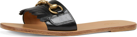 Gucci Leather Kiltie Slide Sandal with Bit
