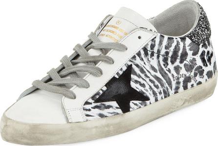 Golden Goose Deluxe Brand Superstar Smudge-Print Leather Platform Sneaker