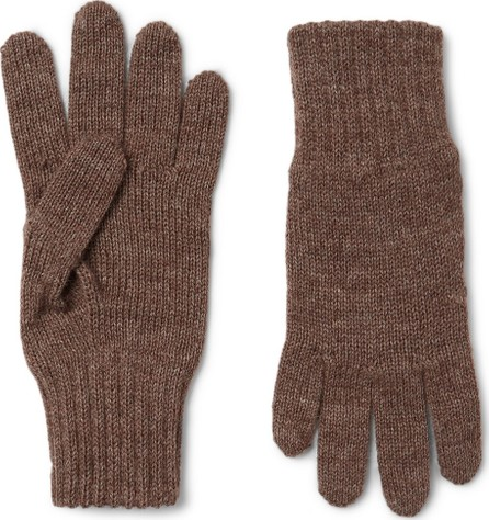 De Bonne Facture Alpaca and Wool-Blend Gloves