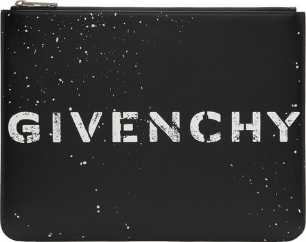 Givenchy Black Large Stencil Logo Zipped Pouch