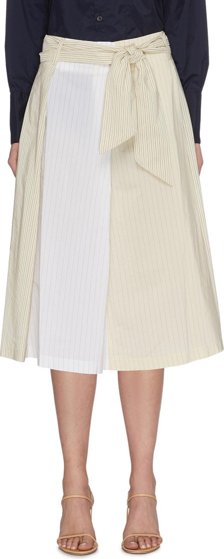 Barena 'Arpa' Collaged Pinstripe A-line Midi Skirt