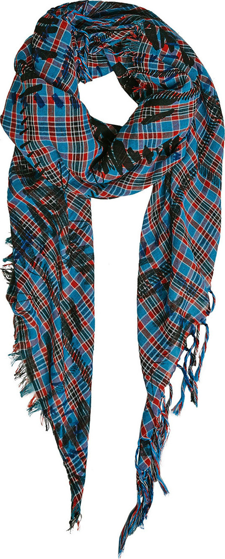 Burberry London England The Burberry Bandana in Scribble Check Cotton Silk