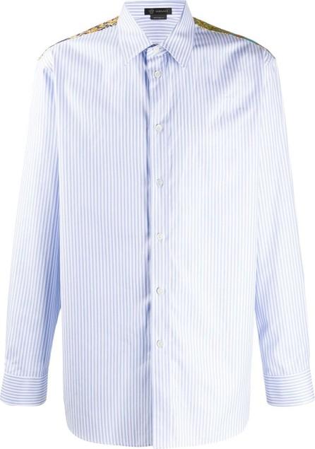 Versace Barocco insert striped shirt