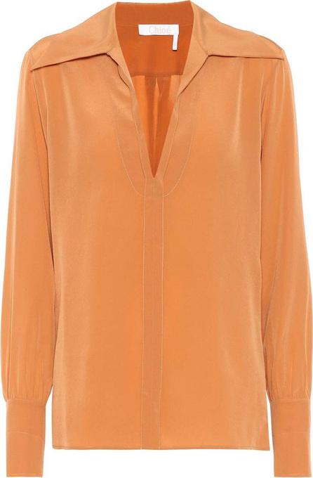 Chloe Silk crêpe di chine blouse