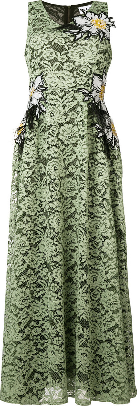 Ainea Lace maxi dress with floral appliqués