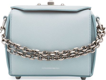 Alexander McQueen Blue leather box bag
