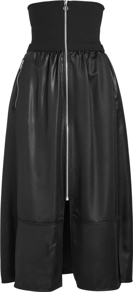 Zip Detail Midi Skirt